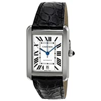 Cartier Tank Solo XL Automatic White Dial Stainless Steel Mens Watch W5200027 from Cartier