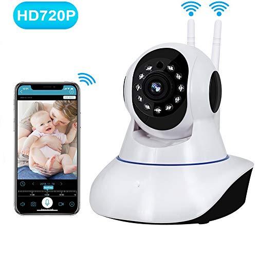 Camara de seguridad wifi 360 Grados camara de vigilancia inalambrica con Pan/ Tilt /Zoom camara ip wifi HD 720P monitor de...