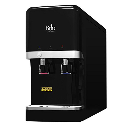 Bottleless Countertop Water Dispenser w/ 5 stage EZ Change Filtration System by Brio and Magic Mountain Water Products Black by Brio and Magic Mountain Water Products