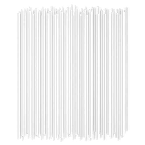 Disposable Drinking Straws - 7 3/4 Inches Long - Standard Size (Clear, 250)