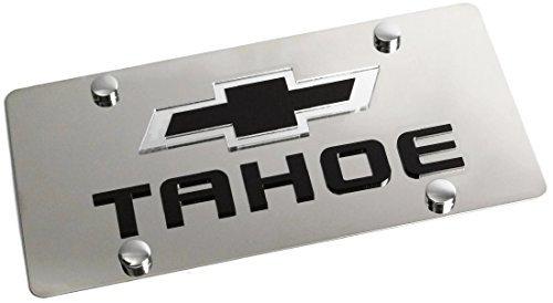 Eurosport Daytona Stainless Steel New Tahoe Mirror Black License Plate Frame 3D Novelty Tag
