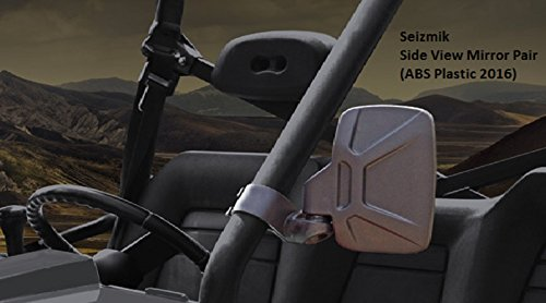 Seizmik 18080 Side View Mirrors ABS Plastic 2016 Model for Polaris Rangers, Yamaha Rhino, John Deere Gator, Bob Cat (Polaris Ranger Yamaha Rhino)