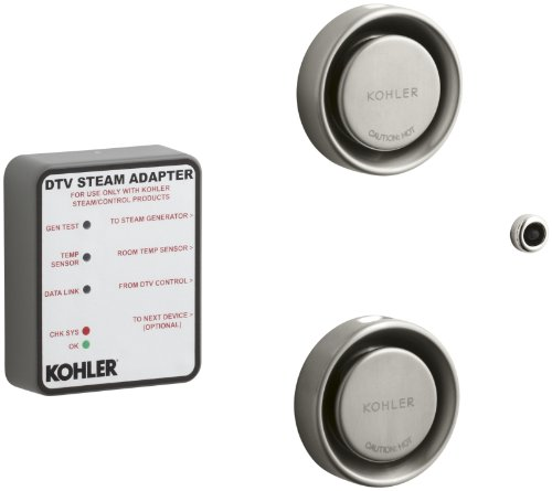 Bathroom Kohler Generator (Kohler K-1838-BN Dual Steam Adapter Kit, Vibrant Brushed Nickel)