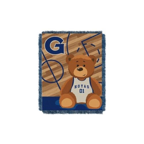 The Northwest Company Officially Licensed NCAA Georgetown Hoyas Half Court Woven Jacquard Baby Throw Blanket, 36