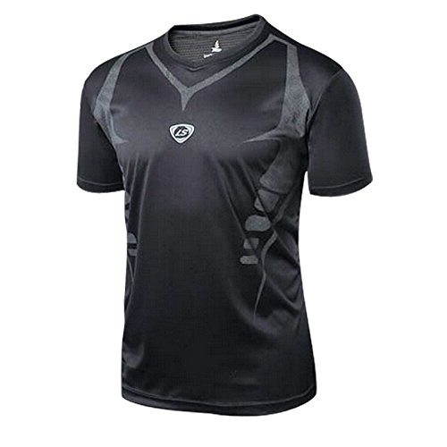 Amazon.com: Men Outdoor Sports Dry Fit Training Clothing Hiking Camping Football Shirt Tops Running T-Shirt Fitness Sport T Shirt Camisetas: Clothing