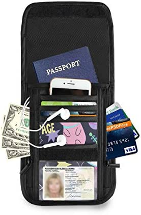 トラベルウォレット ミニ ネックポーチトラベルポーチ ポータブル カラフルな猫 スペース 小さな財布 斜めのパッケージ 首ひも調節可能 ネックポーチ スキミング防止 男女兼用 トラベルポーチ カードケース