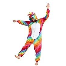 Missley Unicorn Pajamas Halloween Jumpsuits Adult Unicorn Animal Cosplay Costume
