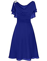 CladiyaDress Women Scoop Short Mother of the Bride Dress C086LF