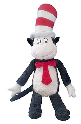 Amazon Com Dr Seuss Cat In The Hat Plush Cuddle Buddy Pillow Toys