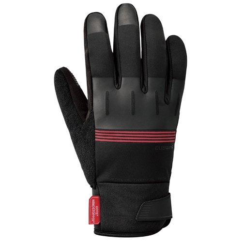 Shimano ECWGLBWQS25MD3 Gants Mixte Adulte, Rouge (Refl Roj), FR : M (Taille Fabricant : M)