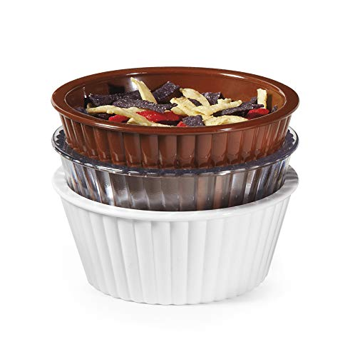 G.E.T. Enterprises ER-404-CL 4 oz. Fluted Ramekin, Break Resistant, San, Clear (Pack of 12)