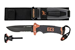 The collaboration of Gerber's 70 + years of knife and gear expertise with Bear Grylls extensive outdoor survival and adventure experience led to the creation of the Bear Grylls Ultimate Serrated Knife.Bear knows what it takes to be a survivor...