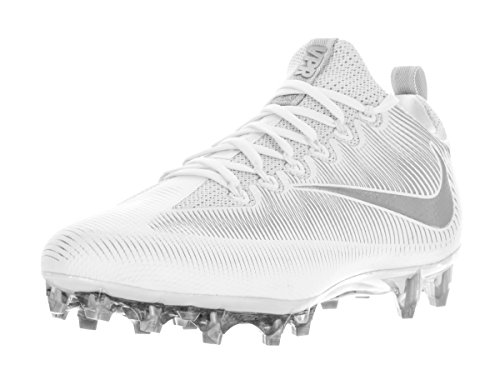 Nike Men's Vapor Untouchable Pro White/Metallic Silver Football Cleat 10.5  Men US