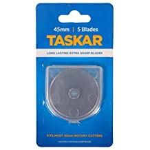 Taskar 45mm Rotary Cutter Blades for Olfa Etc - by Taskar