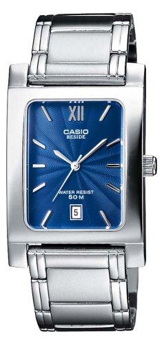 b50e80c6f8dc Casio BEM-100D-2AVEF - Reloj analógico de cuarzo para mujer con correa de  acero inoxidable