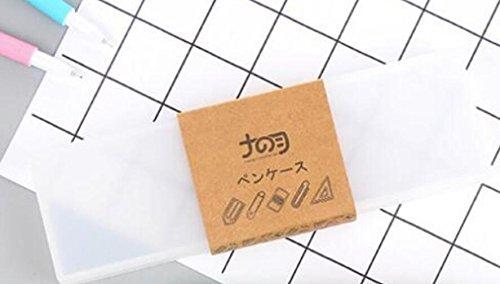 Wanrane Student Supplies School Plastic Stationery Pencil Box Makeup Tools Box (White)
