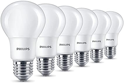 8 W 60 W Frosted Philips LED E27 Edison Screw Warm Bulb - White Light