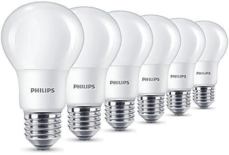 Philips LED Lampe 8 W ersetzt 60 W, E27, warmweiß (2700K), 806 Lumen ...