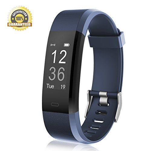 Fitness Tracker Heart Rate Monitor Gemeita Sport Smart Wristband IP67 Waterproof Wearable Activity Tracker with Steps&Calorie Burned and Distance Counter Sleep Monitor Pedometer (blue) (Rate Exercise For Heart Monitor)