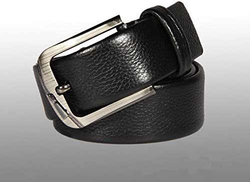 ZHANGHUI Mens belt leather business belt first layer double bag leather pin buckle