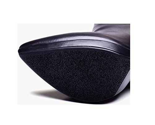 vera ribattino punta pelle a 38 Ankle spillo decorazione stivali tacco 38 Boot paillettes moda Martin Donna 14UHngwxqU