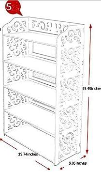 ZJchao 3//4//5/Niveles Blanco Chic Hollow fuera zapatos rack barroco de armario de zapatos de almacenamiento Organizador Soporte Estante Soporte unidad estantes