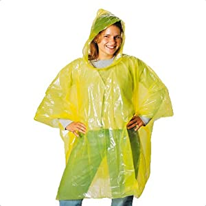 Yellow Poncho With Attached Hood Universal Size - Work