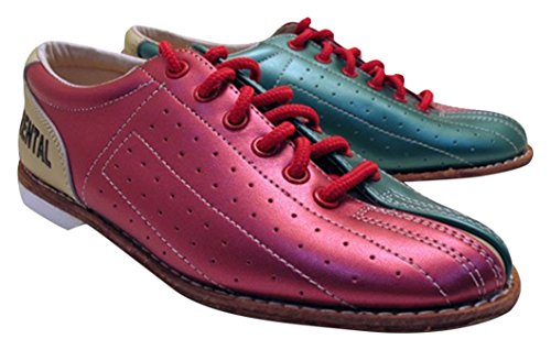 Bowlerstore Women's Classic Elite Rental Bowling Shoes, 5 1/2 US M, Red/Teal/Tan