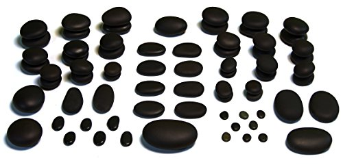(TIR Massage Stone - 71 Piece Massage Stones Set - Smooth and Natural Massage Stones (not cut) - Professional-Grade Configuration)