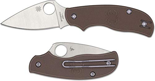 Spyderco Leaf - Spyderco Urban Coyote Folder 2.61 in Blade Brown FRN Handle