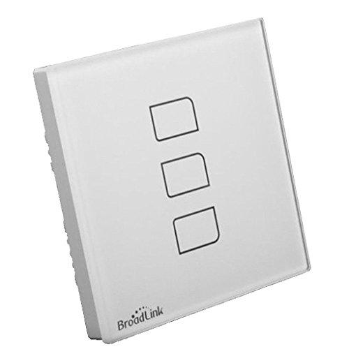 Broadlink TC2 1Gang 2Gang 3 Gang Touch Switch,UK Standard,Smart Home Automation,Wireless Wifi Control Lights Wall Switch RF433