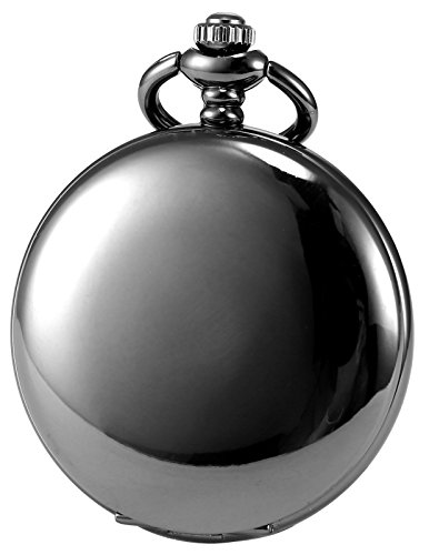 AMPM24 Vintage Black Men's Women Ladies Quartz Pendent Pocket Watch Clock Chain Gift WPK026 by AMPM24 (Image #1)