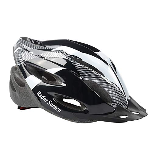 (Radar Screen Bicycle Helmet, Mountain Bike Helmet with CPSC Safety Certified Ultra Lightweight Cycling Helmet with Adjustable Thrasher for Adult)