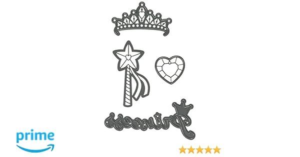 Darice Cutting Dies PRINCESS Tiara Heart Die Cut Embossing Stencil 30023080