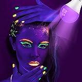 SUNMEG UV LED Black Light Bulbs 3 Pack 9W E26/E27