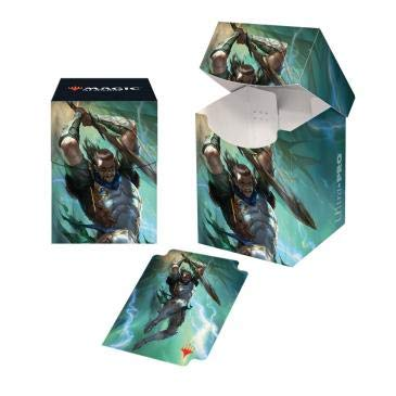 - MTG War of The Spark V1 Gideon Blackblade Ultra Pro Printed Art Deck Box Magic The Gathering Case Protectors