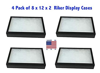 amazon com southern star 4 pack of riker display cases 8 x 12 x 2
