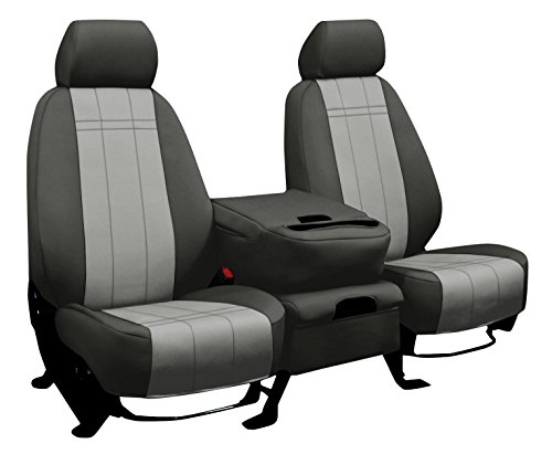 - THIRD ROW SEAT: ShearComfort Custom Neoprene-Style Seat Covers for Ford Expedition (2007-2017) in Charcoal w/Silver for 60/40 Split Back and Bottom w/Folding Headrests and Seatbelt in Backrest