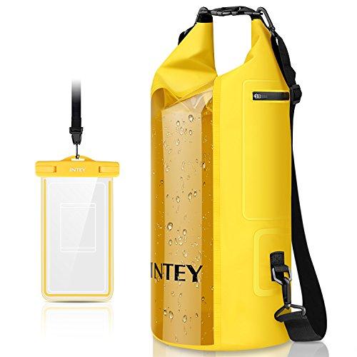 INTEY Camping Gear Dry Bag Kayaking Waterproof Dry Bags for Camping & Traveling & Hiking with Waterproof Phone Bag 20L