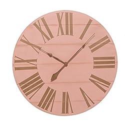 BrandtWorks PHVC042 Oversized Farmhouse Wall Clock, 42, Pink