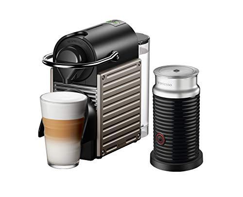 Krups XN305T Nespresso Pixie – Cafetera de cápsulas y Aeroccino Bundle (1260 W, capacidad del depósito de agua: 0,7 l…