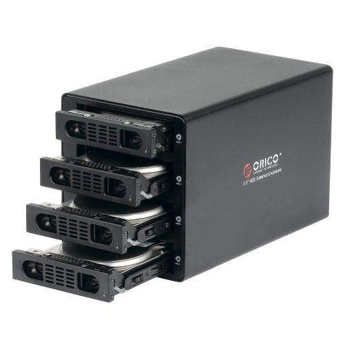 ORICO Aluminum 4 Bay 3.5'' Hard Disk Drive Case with US Plug, Black (ORICO 3549RUS3-US-BK) by ORICO (Image #3)