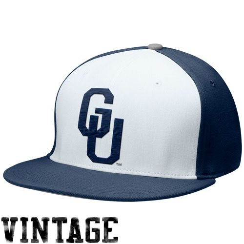 - NIKE Georgetown Hoyas Navy Blue Big Logo Swoosh Flex Hat (Medium/Large)
