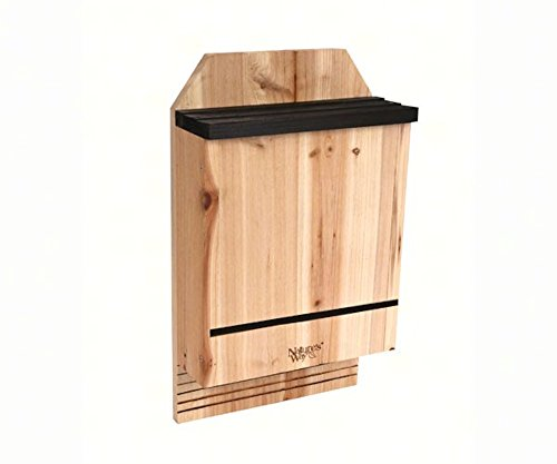 3 Chamber Cedar Bat House for 300 Bats, Includes Book on Understanding Bats