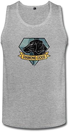 男性 面白い メタルギアソリッド ダイアモンドドッグス タンクトップ タイツ White