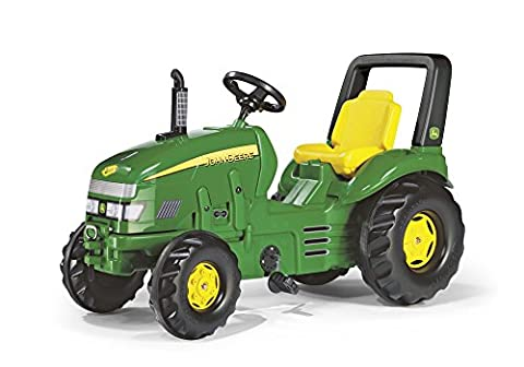 rolly toys John Deere X-Trac Pedal Tractor with Front and Rear Hitches for Additional Accessories, Youth Ages 3+