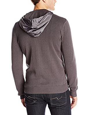 Calvin Klein Jeans Men's Mesh-Stitch Zip-Up Hoodie Sweater