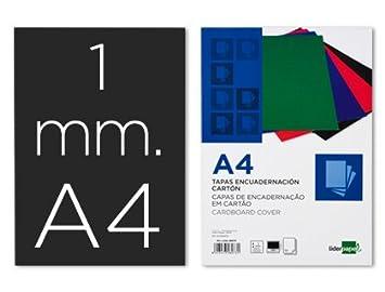 Liderpapel 64088 - Pack de 50 tapas de encuadernación, carton 1 mm, A4, color negro: Amazon.es: Oficina y papelería