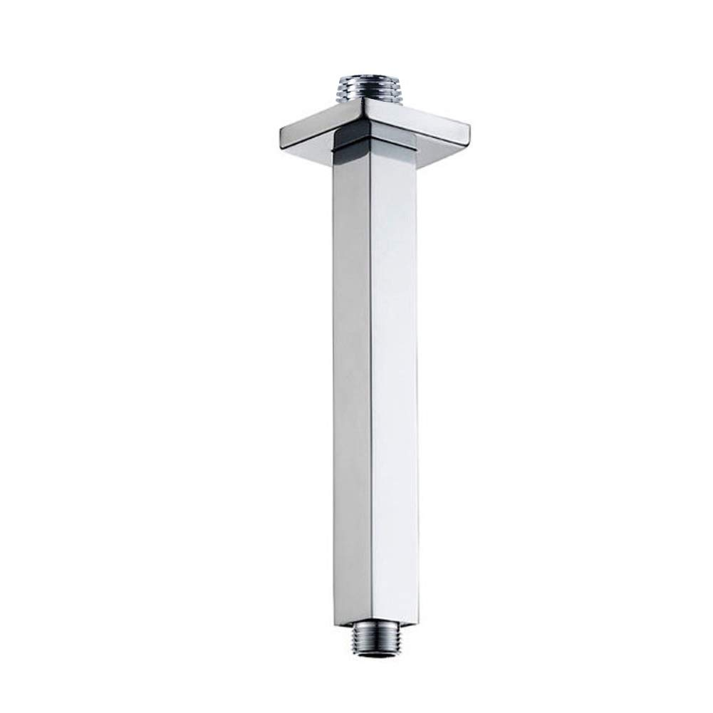 12''inch Ceiling Shower Arm Extension with Flange NPT1/2'' US Standard Stainless steel Chrome Bathroom Replacement (Ceiling mounted)
