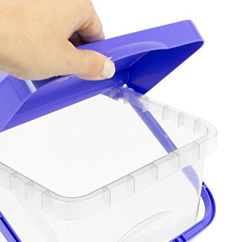 25 L Behälter Waschpulver Futterbehalter Unibox mit Deckel blau Aufbewahrungsbox Bad Küche